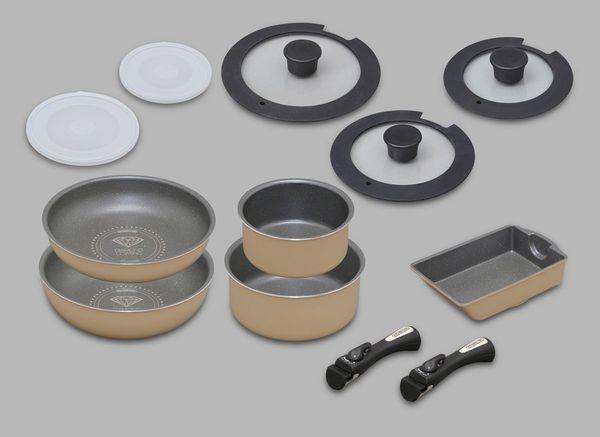 【メーカー在庫あり】 [12点組] 鍋・フライパンセット EA913VR-4A JP店