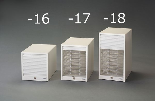【メーカー在庫あり】 277x373x485mm/10段レターケース(シャッタ EA954JB-18 JP店
