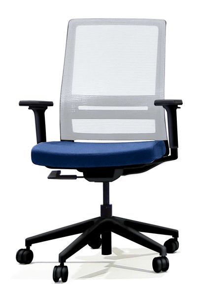 【メーカー在庫あり】 ビジネスチェアー(肘付/グレー/ブルー) EA956XA-209 JP店