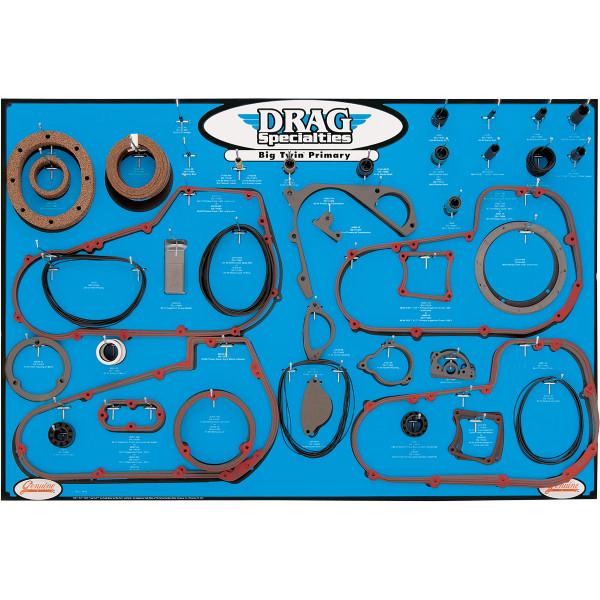 【USA在庫あり】 DRAG プライマリー ガスケット ディスプレイ ボード BigTwin 4速、5速トランスミッション 9903-0101 JP店