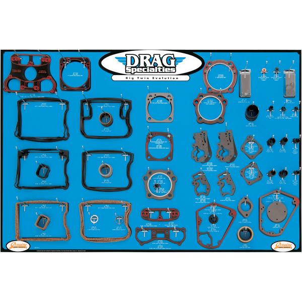 【USA在庫あり】 DRAG エンジン ガスケット ディスプレイ ボード 84年-99年 Big Twin 0934-0274 JP店