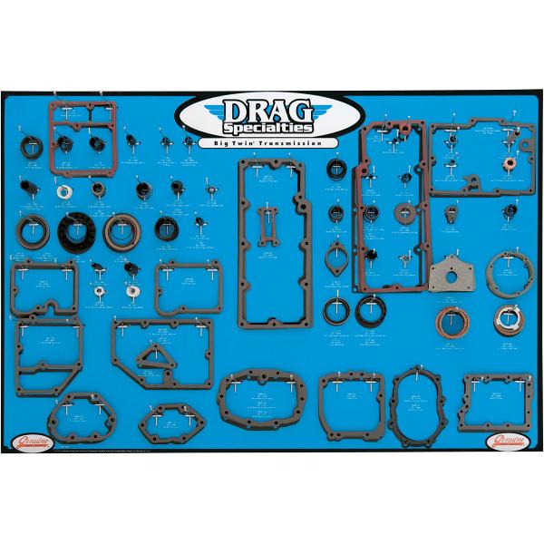 【USA在庫あり】 DRAG トランスミッション ガスケット ディスプレイ ボード BigTwin 5速トランスミッション 0934-0287 JP店