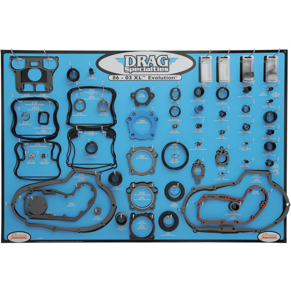 【USA在庫あり】 DRAG エンジン ガスケット ディスプレイ ボード 86年-03年 XL 0934-1667 JP店
