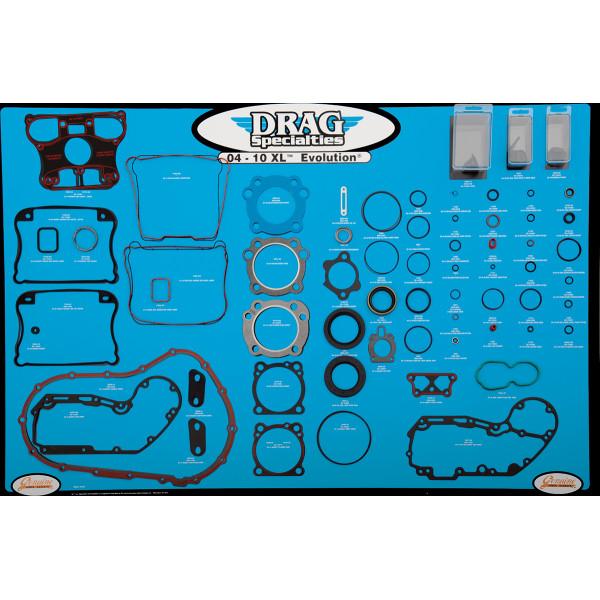 【USA在庫あり】 DRAG エンジン ガスケット ディスプレイ ボード 04年以降 XL 0934-1878 JP店