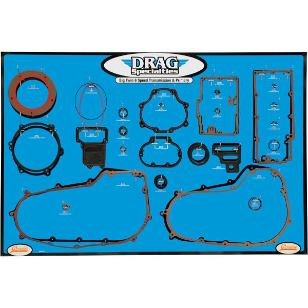 【USA在庫あり】 DRAG プライマリー ガスケット ディスプレイ ボード BigTwin 6速トランスミッション 0934-2017 JP店