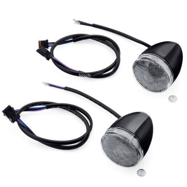 【USA在庫あり】 ハーレー純正 LEDブレットウインカー ブラック/スモークレンズ(左右ペア) 67800480 JP店