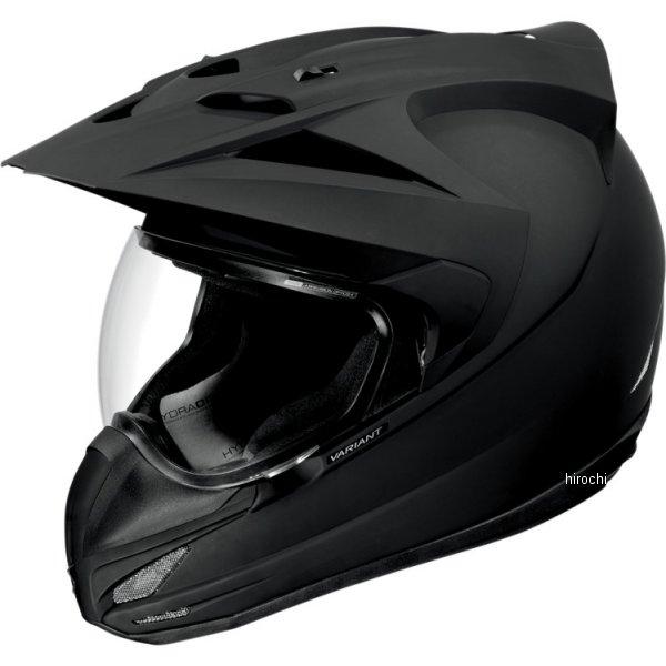 【USA在庫あり】 アイコン ICON ヘルメット バリアント 黒 RUB 2XLサイズ (63cm-64cm) 0101-4779 JP店