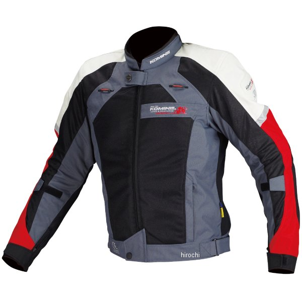 JJ-002 コミネ KOMINE 春夏モデル エアストリームメッシュジャケット 黒/赤 XLサイズ 4573325731950 JP店