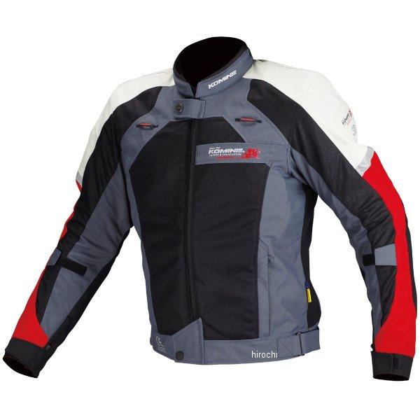 JJ-002 コミネ KOMINE 春夏モデル エアストリームメッシュジャケット 黒/赤 4XLBサイズ 4573325731981 JP店