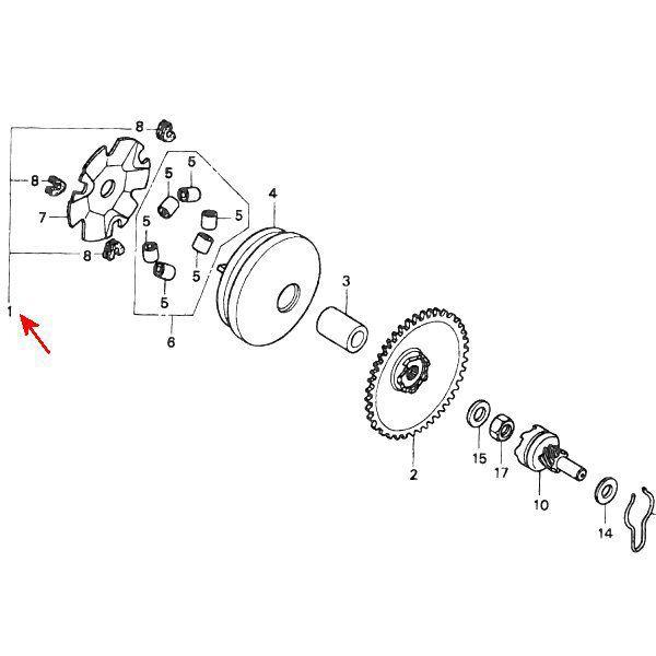 CT-V01C 슬라이드 피스 3개 세트02-010-0017 431355 22132-GW0-000