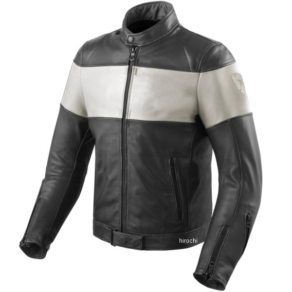 FJL092-1600-M46 ノヴァビンテージ レザージャケット JP店 レブイット REVIT M46サイズ 黒/白