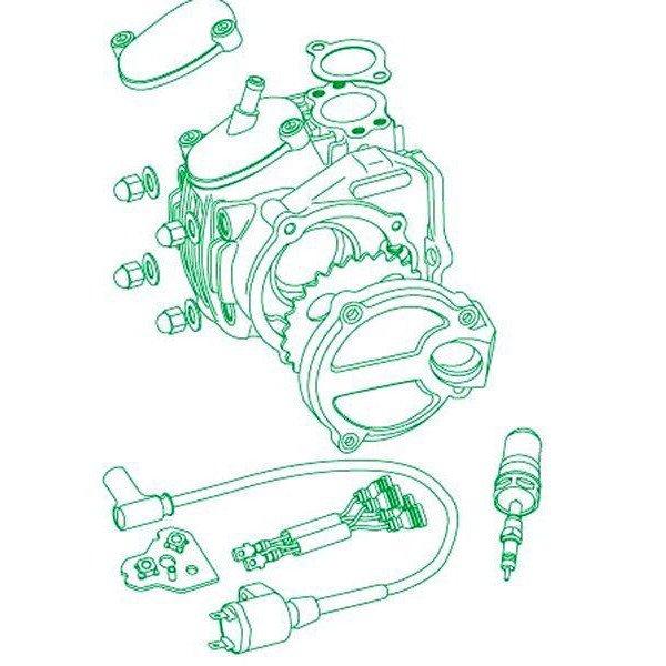 SP武川 ツインスパークスーパーヘッド+Rヘッドキット 124cc バレル仕上 モンキー/ゴリラ 01-03-8205 JP店