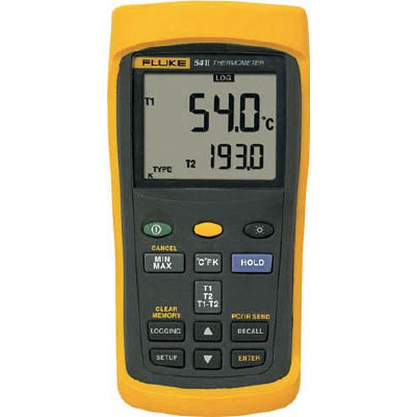 【メーカー在庫あり】 (株)TFF フルーク社 FLUKE 温度計(ロガー機能付・2チャンネル) 54-2B JP