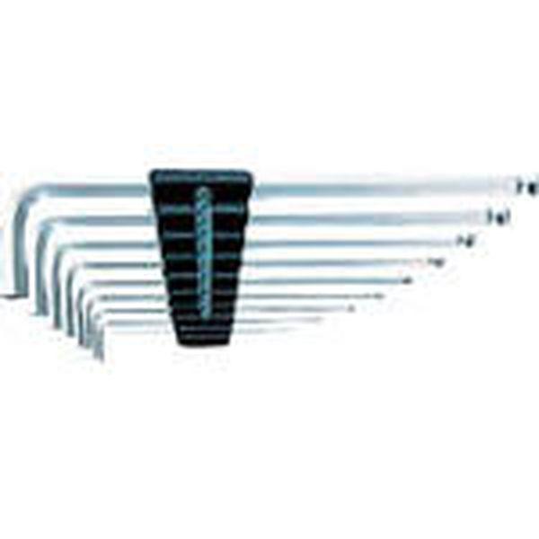 【メーカー在庫あり】 京都機械工具(株) KTC ハイグレードボールポイントL形ロング六角棒レンチセット[9本組] HLD2509B JP