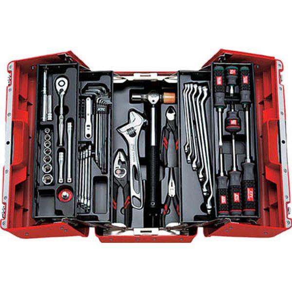 京都機械工具(株) KTC 9.5sq.工具セット(両開きプラハードケース)[53点組] SK3536P JP