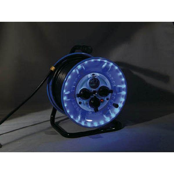 【メーカー在庫あり】 日動工業(株) 日動 防雨型電工ドラム LEDラインドラム 青 NPWL-EK33-B JP