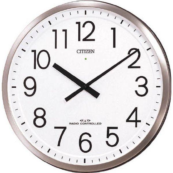 【メーカー在庫あり】 リズム時計工業(株) シチズン パルフィスF(電波掛時計)ステンレス材 銀色ヘアライン仕上 4MY660-N19 JP