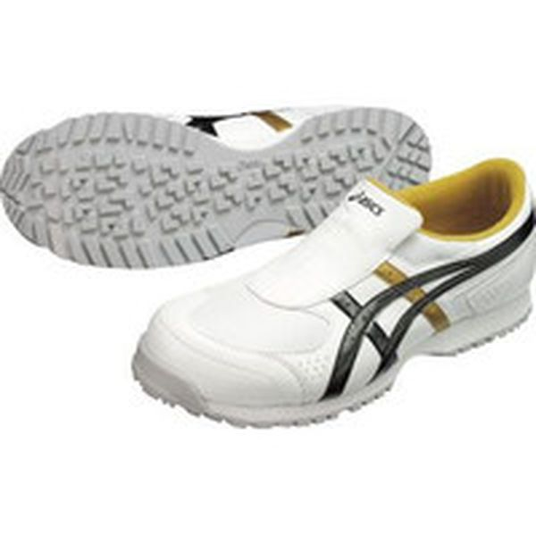 FIS36S.019025.5 アシックスジャパン(株) アシックス 作業用靴 ウィンジョブ36S ホワイトXブラック 25.5cm FIS36S.0190-25.5 JP