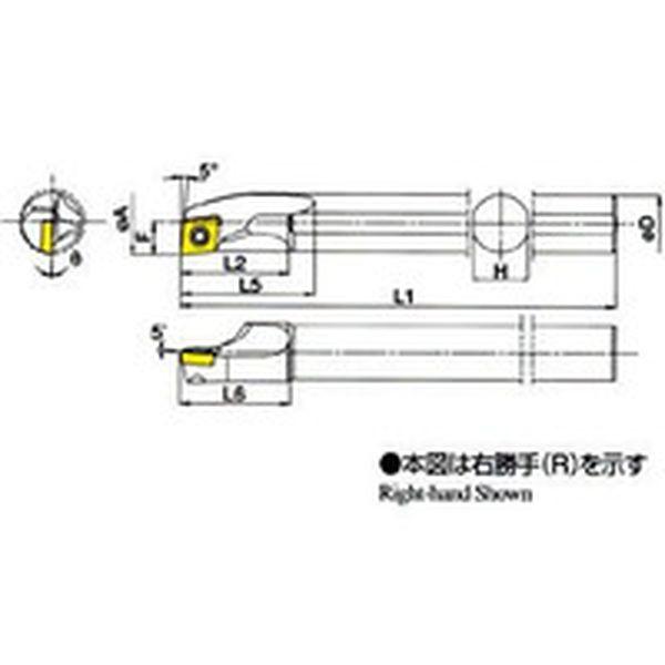 【メーカー在庫あり】 S16QSCLPR0918A 京セラ(株) 京セラ 内径加工用ホルダ S16Q-SCLPR09-18A JP店