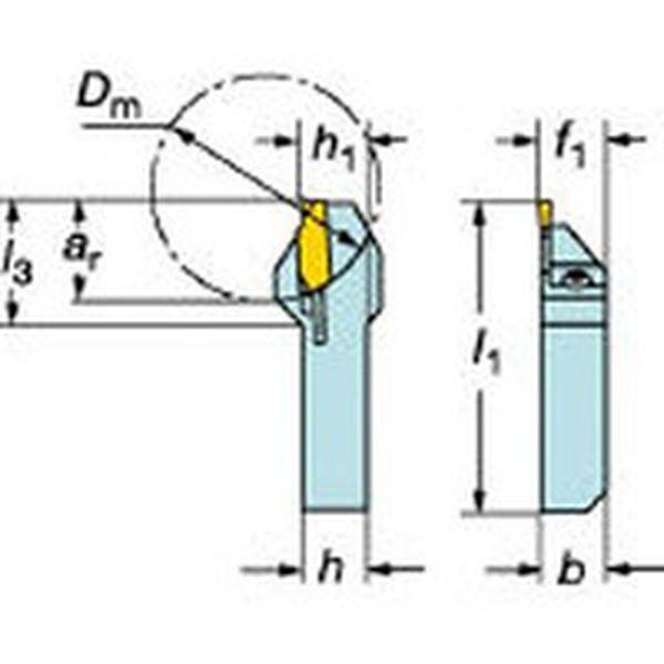 【メーカー在庫あり】 サンドビック(株) サンドビック QSホールディングシステム コロカット1・2用突切り・溝入れバイト QS-LF123D11-1212B JP