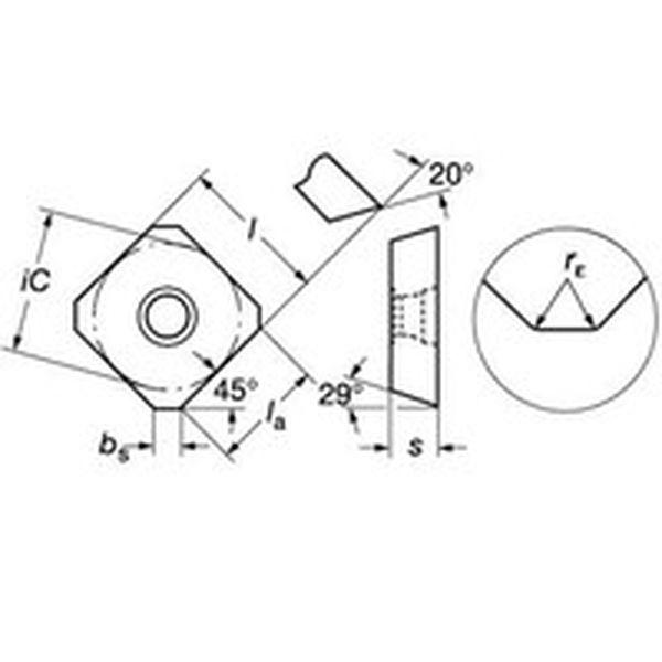【メーカー在庫あり】 サンドビック(株) サンドビック コロミル245用チップ 1020 10個入り R24518T6MKM JP