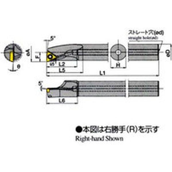 【メーカー在庫あり】 A25SSTLPR1627AE 京セラ(株) 京セラ 内径加工用ホルダ A25S-STLPR16-27AE JP店