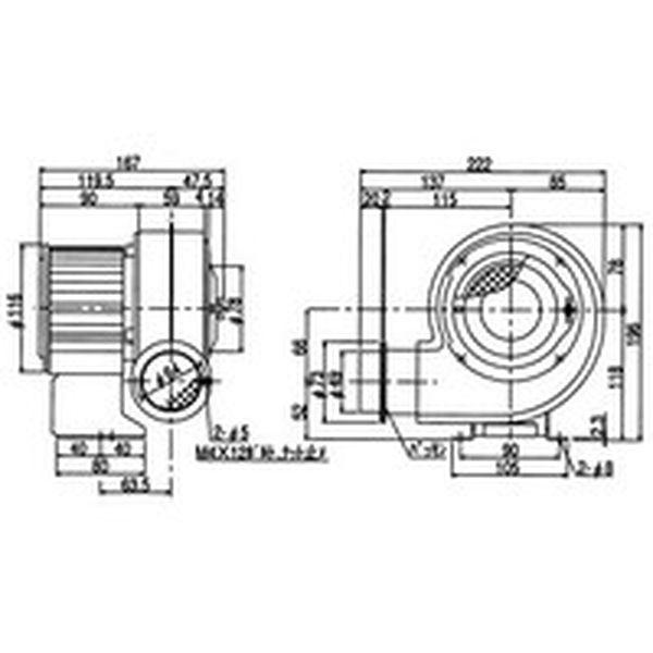 【メーカー在庫あり】 JP 汎用シリーズ(0.04kW) SF-55S 電動送風機 昭和電機(株) 昭和