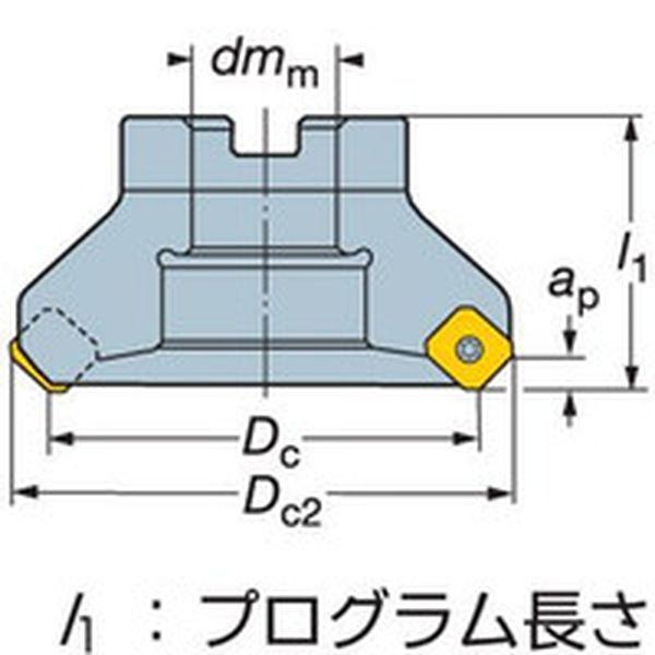 【メーカー在庫あり】 サンドビック(株) サンドビック コロミル245カッター RA245-125J38-18M JP