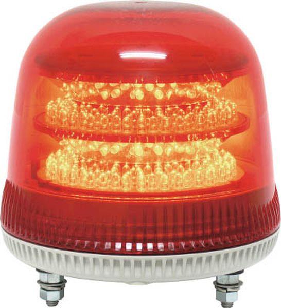 【メーカー在庫あり】 (株)日惠製作所 NIKKEI ニコモア VL17R型 LED回転灯 170パイ 黄 VL17M-024AY JP