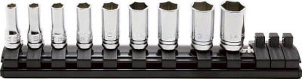 【メーカー在庫あり】 (株)山下工業研究所 コーケン 6.35mm差込 Z-EALセミディープソケットレールセット9ヶ組 RS2300XZ/9 JP