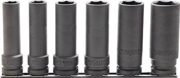トラスコ中山(株) TRUSCO インパクト用超ロングソケットセット 長さ100mm T4-6SL-100-SET JP
