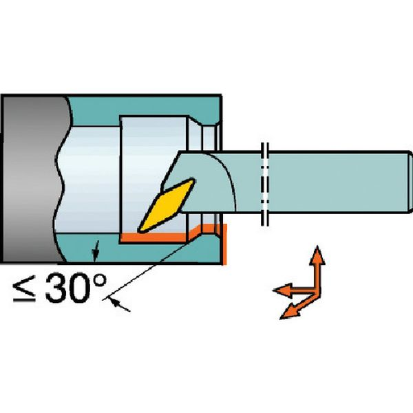 【メーカー在庫あり】 A32TSVPBR16 サンドビック(株)コロマントカンパニー サンドビック コロターン107 ポジチップ用ボーリングバイト A32T-SVPBR JP店