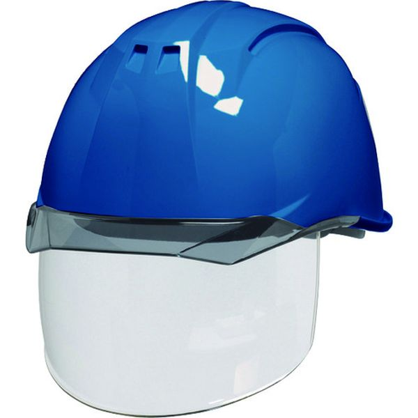 【メーカー在庫あり】 DICプラスチック(株)安全資材営業部 DIC 透明バイザーヘルメット(シールド面付) AA11EVO-CS KP スカイブルー/スモーク AA11EVO-CS-HA6-KP-B/S JP店