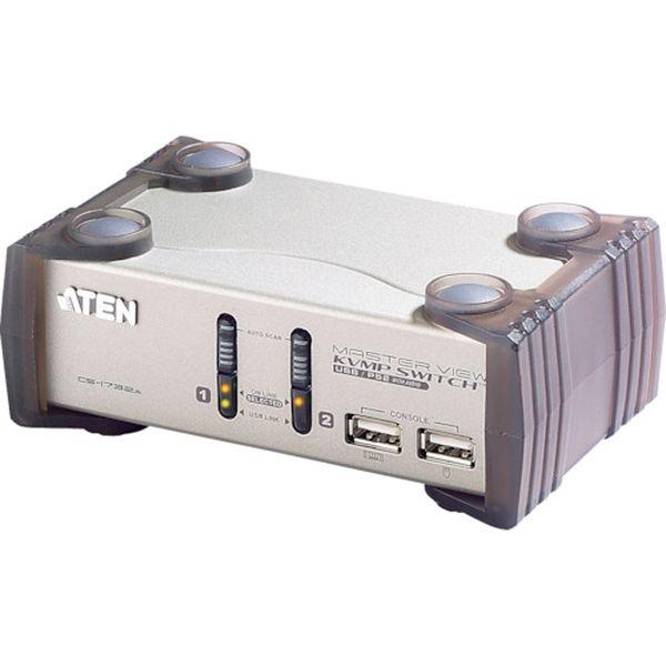 【メーカー在庫あり】 ATENジャパン(株) ATEN KVMP[[TM上]]スイッチ 2ポート/USB/VGA/オーディオ/USB2.0ハブ2ポート CS1732A JP店