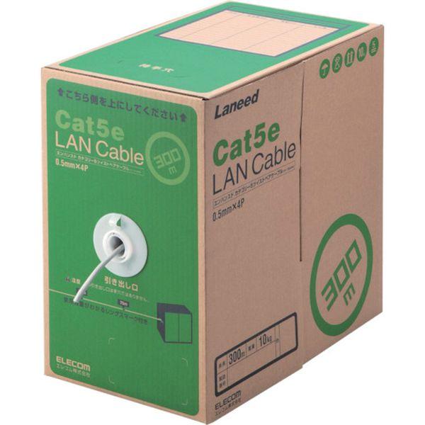 【メーカー在庫あり】 LDCT2LG300RS エレコム(株) エレコム EU RoHS準拠LANケーブル CAT5E 300m ライトグレー LD-CT2/LG300/RS JP店