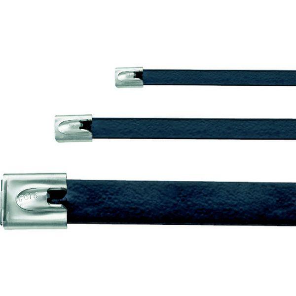 【メーカー在庫あり】 MLTFC4EHLP316 MLT フルコーティングステンレススチールバンド SUS316 黒 幅12.9mm 長さ434mm 50本入り MLTFC4EH-LP316 JP店