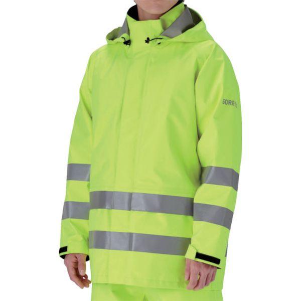 【メーカー在庫あり】 RAINVERDENUEYM ミドリ安全(株) ミドリ安全 雨衣 レインベルデN 高視認仕様 上衣 蛍光イエロー M RAINVERDE-N-UE-Y-M JP店