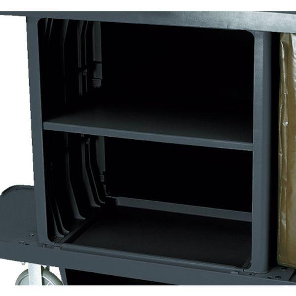 【メーカー在庫あり】 ニューウェル・ラバーメイド社 ラバーメイド ハウスキーピングカート用中棚キット ブラック RM6195BK JP店