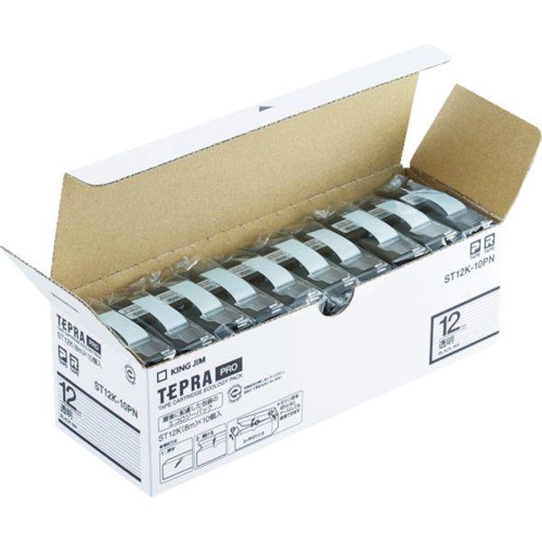 【メーカー在庫あり】 ST12K10PN (株)キングジム キングジム 「テプラ」PROテープエコパック(10個入り)透明 ST12K-10PN JP店