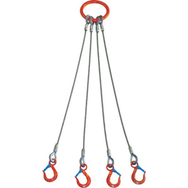 【メーカー在庫あり】 4WRS5TX1.5 大洋製器工業(株) 大洋 4本吊 ワイヤスリング 5t用×1.5m 4WRS 5TX1.5 JP