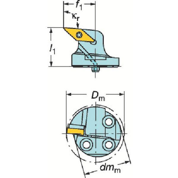 【メーカー在庫あり】 サンドビック(株) サンドビック コロターンSL コロターン107用カッティングヘッド 570-SVPBL-32-16-L JP
