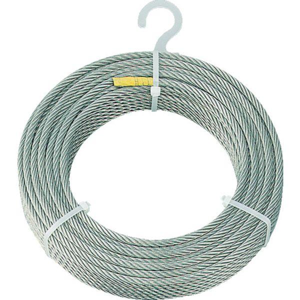 【メーカー在庫あり】 トラスコ中山(株) TRUSCO ステンレスワイヤロープ Φ6.0mmX50m CWS-6S50 JP
