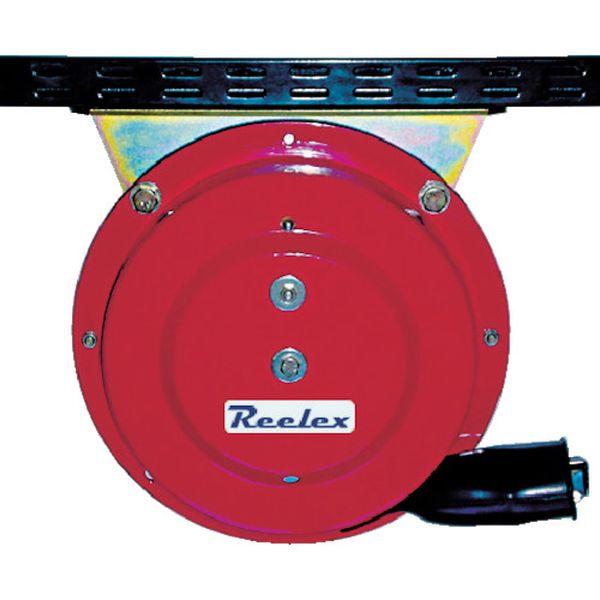 【メーカー在庫あり】 中発販売(株) Reelex 自動巻アースリール吊下げ取付タイプ50Aアースクリップ付 ER-415C JP