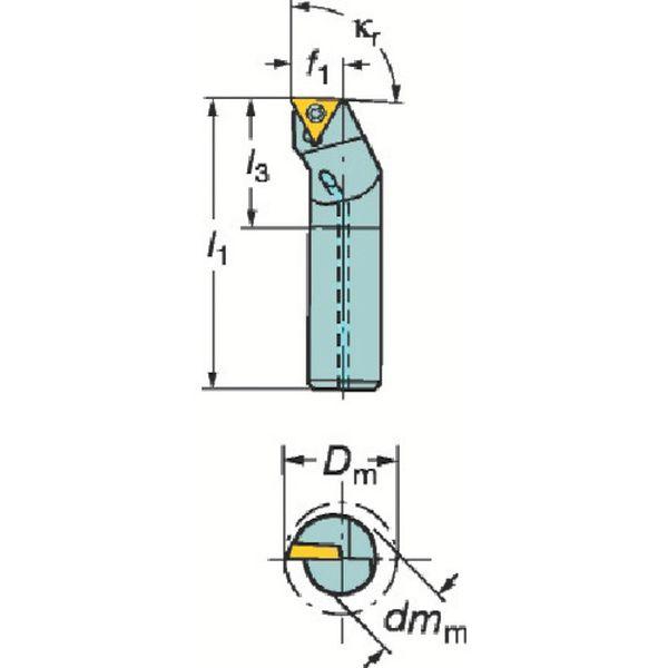【メーカー在庫あり】 サンドビック(株) サンドビック コロターン111 ポジチップ用ボーリングバイト F12Q-STFPR 09-R JP