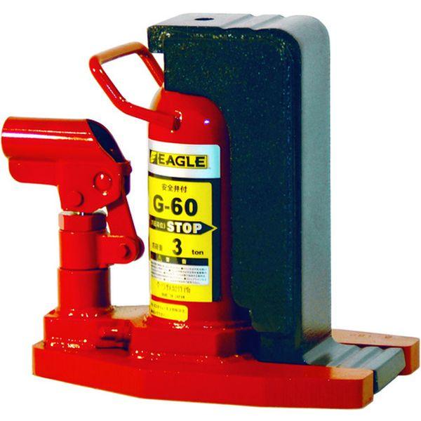【メーカー在庫あり】 G60 (株)今野製作所 イーグル レバー回転・安全弁付爪つきジャッキ 爪能力3t G-60 JP
