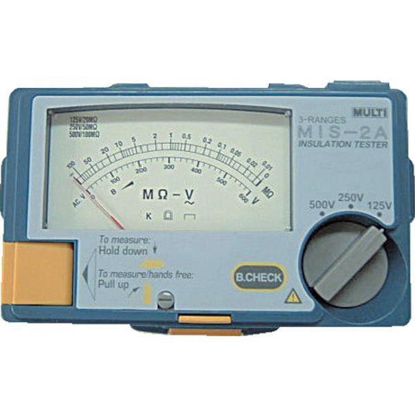 【メーカー在庫あり】 マルチ計測器(株) マルチ アナログ絶縁抵抗計 MIS-2A JP