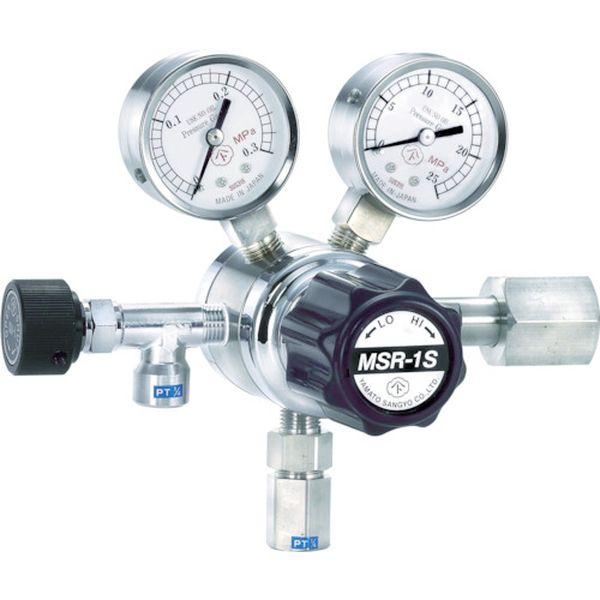 【メーカー在庫あり】 大和製衡(株) ヤマト 分析機用二段圧力調整器 MSR-1S MSR1S11TRC JP