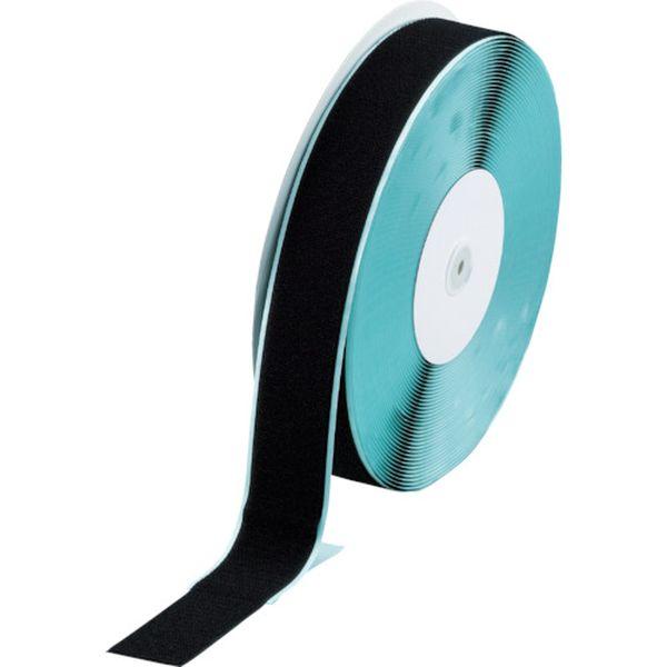 【メーカー在庫あり】 トラスコ中山(株) TRUSCO マジックテープ 糊付A側 幅50mmX長さ25m 黒 TMAN-5025-BK JP