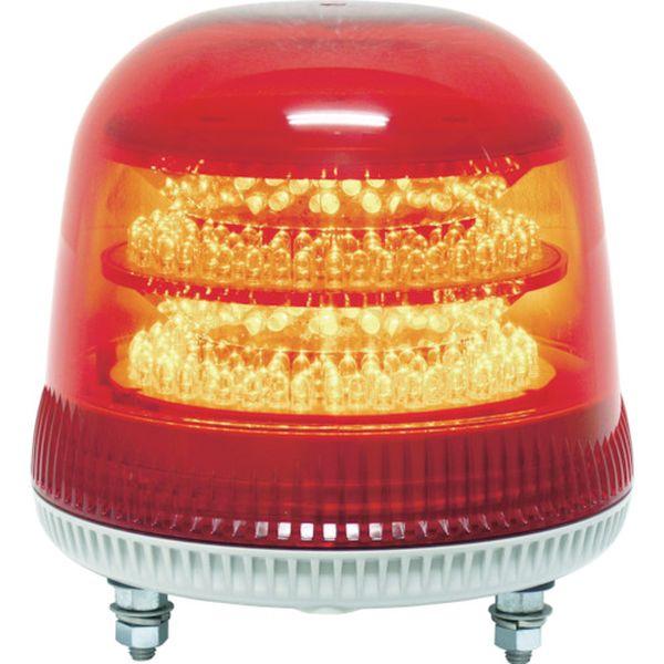 【メーカー在庫あり】 (株)日惠製作所 NIKKEI ニコモア VL17R型 LED回転灯 170パイ 赤 VL17M-024AR JP