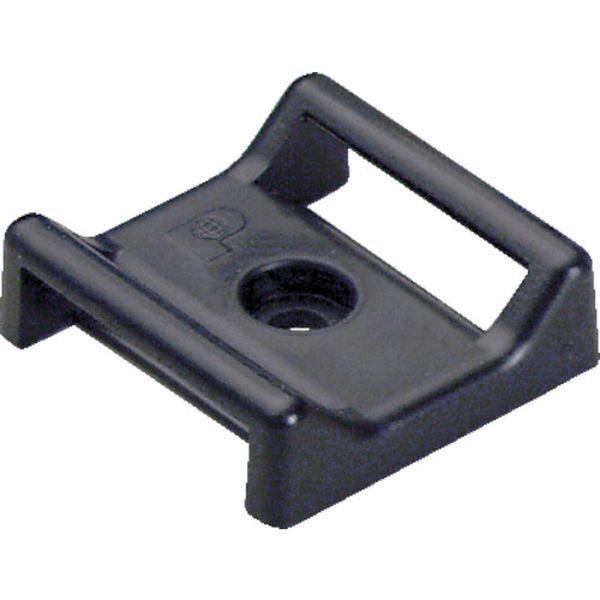 【メーカー在庫あり】 ABMTAC20 パンドウイット タックタイ用タイマウント ゴム系粘着テープ付き 黒(100個入) ABMT-A-C20 JP店
